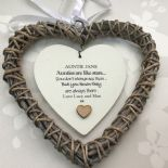 Shabby personalised Chic Special Auntie Aunty Aunt ~ ANY NAME Willow Heart Gift - 332886107759